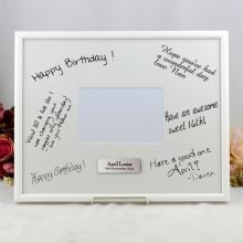 30th Birthday  Signature Frame Black / White 4x6 Photo