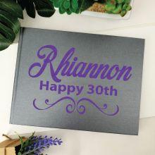 30th Birthday Guest Book Keepsake Album - A5 Grey