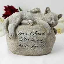 Cat Memorial Resin Garden Ornament