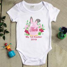 Personalised 1st Easter Bodysuit - Pink Egg