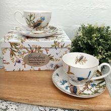Mug Set in Personalised Grandma Box - Birds