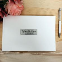 Anniversary Leather Guest Book & Pen