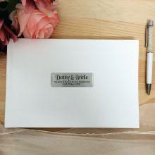 Engagement Leather Guest Book & Pen