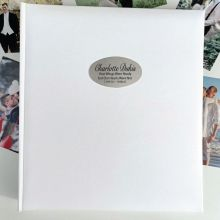Memorial Personalised Photo Album 500 White