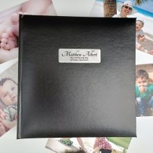 Personalised Christening Day Photo Album -Black 200