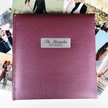 Personalised Family Photo Album Rose 200