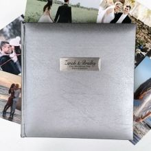 Personalised Wedding Photo Album Silver 200