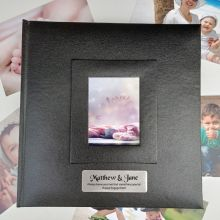Personalised Engagement Photo Album 200 Black
