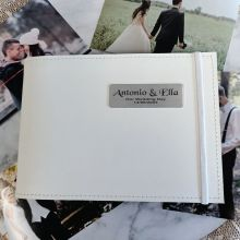 Personalised Wedding Brag Album - White 5x7