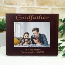 Godfather Engraved Wood Photo Frame- Mocha