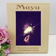Personalised Engraved Wood Photo Frame