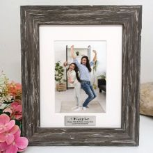 16th Birthday  Personalised Photo Frame Hamptons Brown 5x7