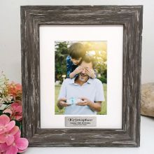 70th Birthday Personalised Photo Frame Hamptons Brown 5x7
