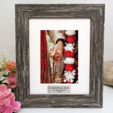 Anniversary Personalised Photo Frame Hamptons Brown 5x7