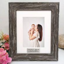 Baby Personalised Photo Frame Hamptons Brown 5x7
