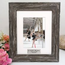 Coach Personalised Photo Frame Hamptons Brown 5x7