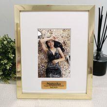 21st Birthday Personalised Photo Frame 4x6 Gold