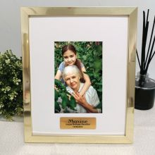 Personalised Birthday Photo Frame 4x6 Gold