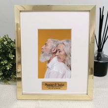 Anniversary Personalised Photo Frame 4x6 Gold