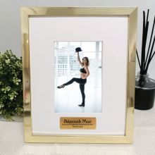 Coach Personalised Photo Frame 4x6 Gold