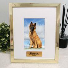 Pet Memorial Personalised Photo Frame 4x6 Gold