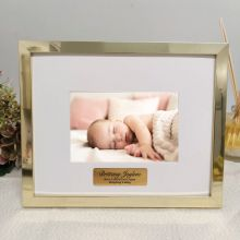 Personalised Baby Photo Frame 5x7 Gold