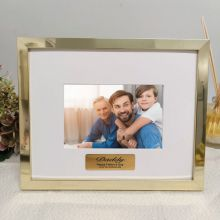 Dad Personalised Photo Frame 5x7 Gold