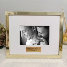 Engagement Personalised Photo Frame 5x7 Gold