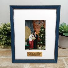 Personalised Anniversary Photo Frame Amalfi Navy 4x6