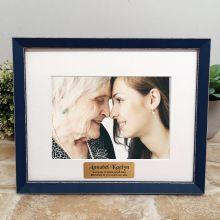 Personalised Memorial Photo Frame Amalfi Navy 5x7
