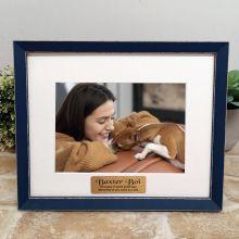 Personalised Pet Memorial  Photo Frame Amalfi Navy 5x7
