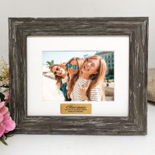 21st Personalised Photo Frame Hamptons Brown 4x6