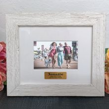 Personalised 100th Birthday Frame Hamptons White 4x6