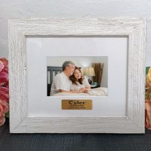 Personalised 70th Birthday Frame Hamptons White 4x6
