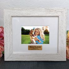 Personalised Birthday Frame Hamptons White 4x6