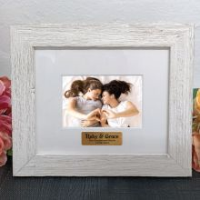 Personalised Engagement Frame Hamptons White 4x6