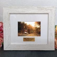 Personalised Godmother Frame Hamptons White 4x6
