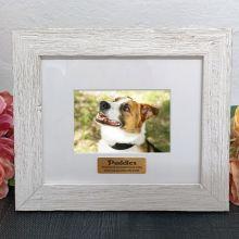 Personalised Pet Memorial Frame Hamptons White 4x6