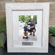 80th Birthday Personalised Frame Hamptons White 5x7