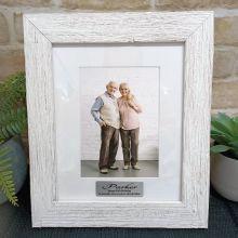 90th Birthday Personalised Frame Hamptons White 5x7