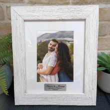 Engagement Personalised Frame Hamptons White 5x7