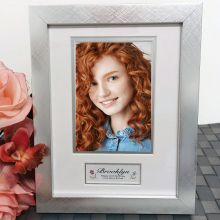 16th Birthday Photo Frame Silver Wood 4x6 Photo