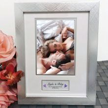 Engagement Photo Frame Silver Wood 4x6 Photo