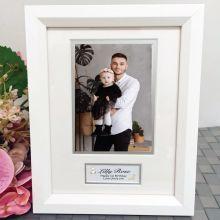 1st Birthday Photo Frame White Wood 4x6 Photo