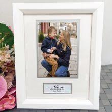 Mum Photo Frame White Wood 4x6 Photo