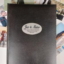 Personalised Anniversary Album 300 Photo Black