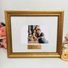 Dad Photo Frame 4x6 Majestic Gold