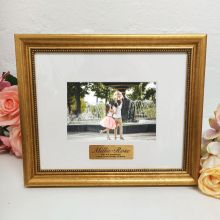 Personalised Photo Frame 4x6 Majestic Gold