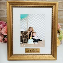 1st Birthday Personalised Frame 5x7 Majestic Gold