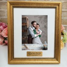 21st Birthday Personalised Frame 5x7 Majestic Gold